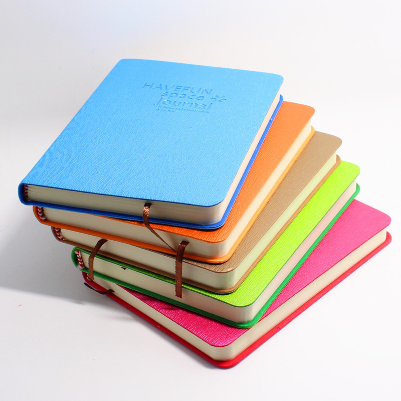 Leather Bound Notebook, Diary, Wire-boundthickened Candy