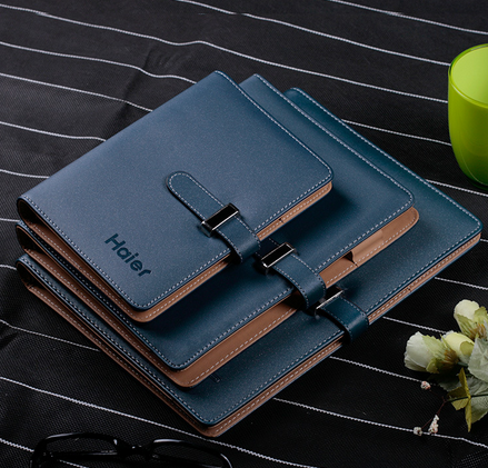 pu loose-leaf notebook can be customized logo