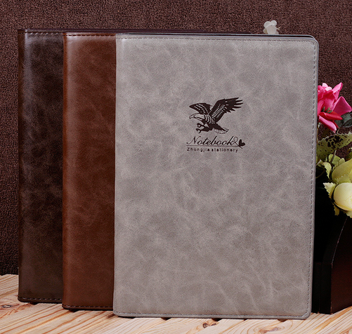 High-end color PU notebook with magnetic snap loose