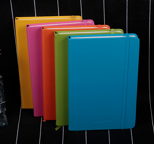PU business notebook notepad customized Elastic ban
