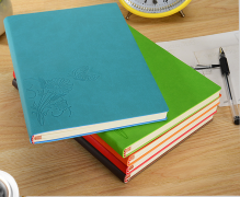 Creative leather hardcover notebook notepad