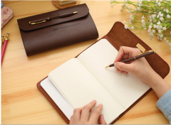High-end simulation Paper notebook with pen